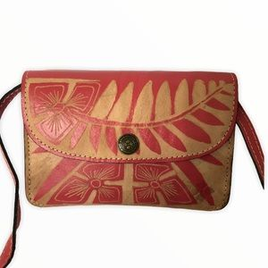 PATRICIA NASH Baku Cuban carved pink crossbody bag